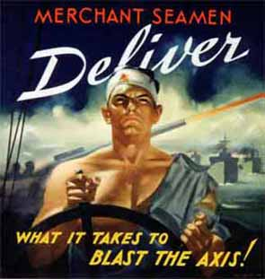 Merchant seamen deliver portion of poster