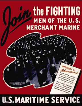 poster join the fighting men of the merchant marine