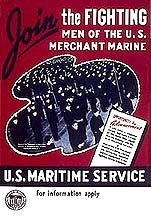 Poster Join the Fighting Men of the U.S. Merchant Marine