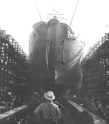 Launching of SS Robert E. Peary