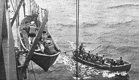 lowering lifeboat