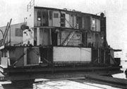 Prefabricated section of Liberty ship