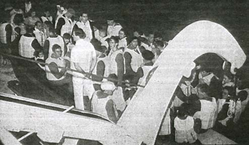 passengers in SS Washignton lifeboats