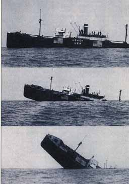 sinking of SS Lehigh