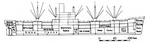 Cross Section of C2 Freighter