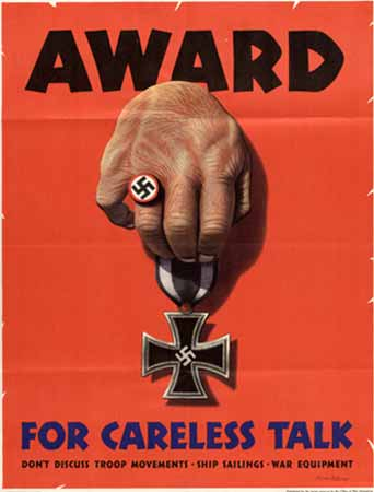 Award for careless talk  poster