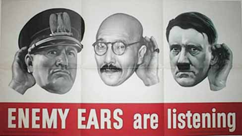 Enemy ears: are listening poster