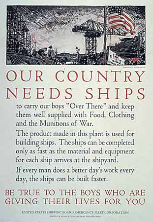 OUR COUNTRY NEEDS SHIPS poster