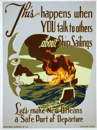 This happens when you talk to others about ship sailings poster New Orleans