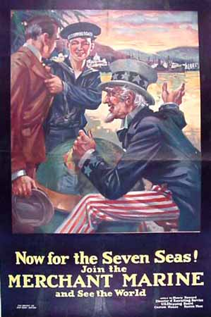 merchant marine poster world war 1