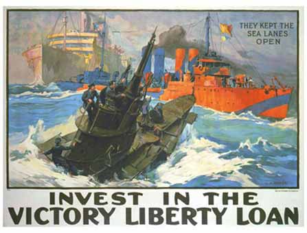 They Kept the Sea Lanes Open - Invest in the Victory Liberty Loan poster