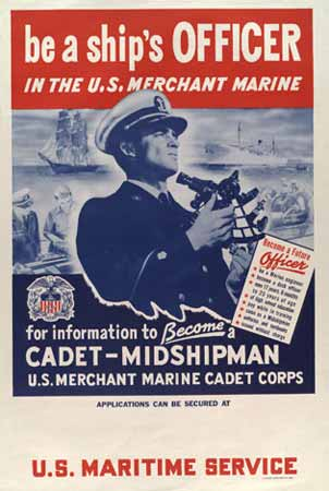 poster Be a ship's officer in the U.S. merchant marine