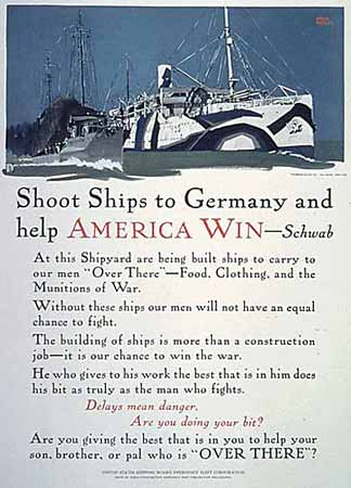 Poster Shoot ships to Germany and Help America Win -- Schwab