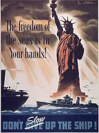 Poster The freedom of the seas is in Your hands