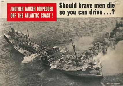 Another tanker torpedoed off the Atlantic coast! poster