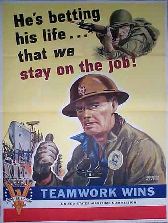 He's Betting his life that we stay on the job! poster