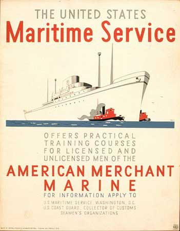 United States Maritime Service poster