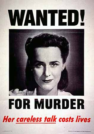 Wanted! For Murder, Her Careless talk costs lives poster