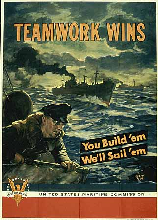 Teamwork Wins You build 'em We'll Sail 'em poster