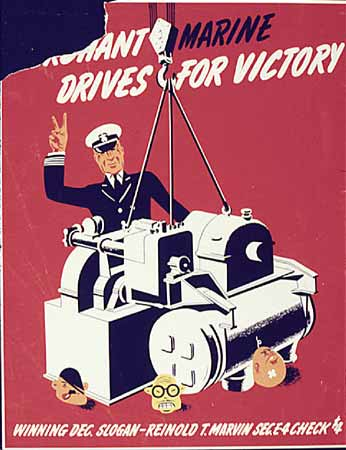 poster Merchant MarineDrives for Victory
