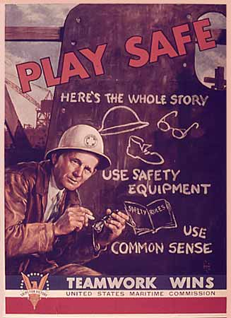 WW2 poster Play Safe