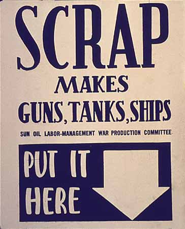 Poster Scrap Makes Guns, Tanks, Ships
