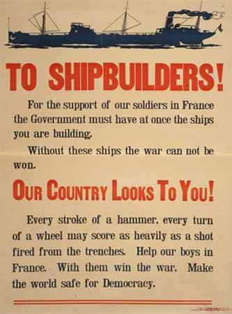 WW1 poster To Shipbuilders!