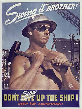 WW2 poster Swing it Brother!