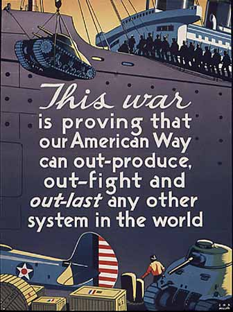 WW2 Poster This war is proving that our American Way