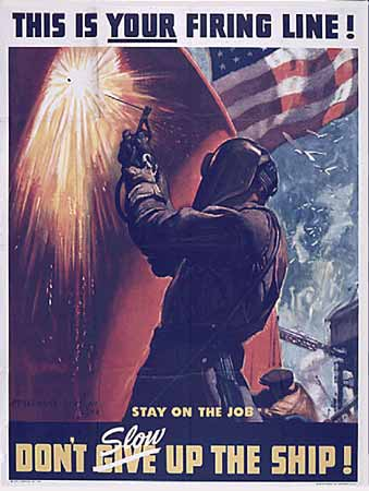 WW2 Poster This is your firing line!